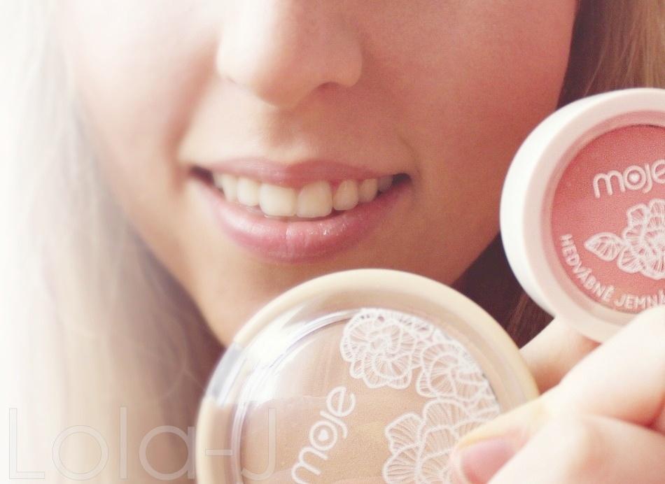 kosmetika MOJE, česká kosmetica, cosmetics, balíček, recenze, blogger life, blog, blonde, girl, pudr, oční stíny, tvářenka, tužka, řasenka, novinky