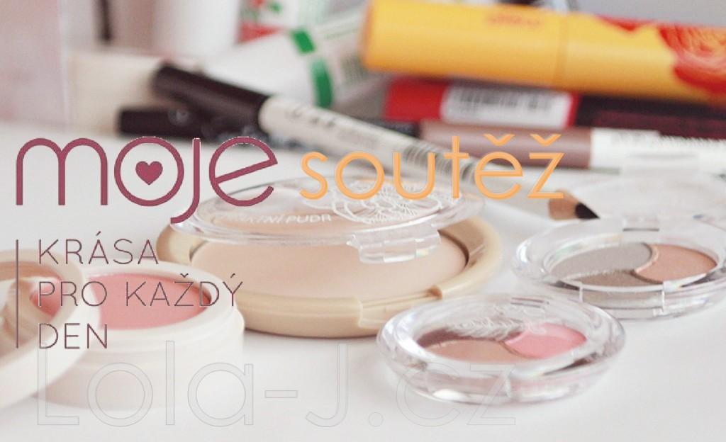 kosmetika MOJE, česká kosmetica, cosmetics, balíček, recenze, blogger life, blog, blonde, girl, pudr, oční stíny, tvářenka, tužka, řasenka, novinky, soutěž, giveaway, competition, moje soutěž, blogová