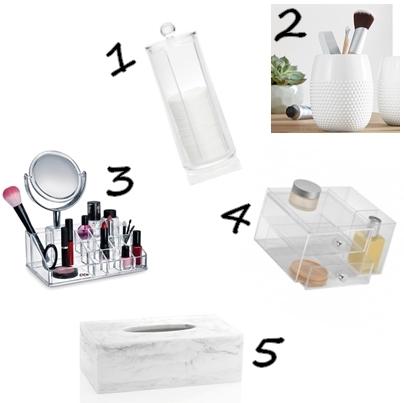 wishlist, favi.cz, kosmetický stolek, toaletka, toaletní stolek, krása, beauty, cosmetics, girly, woman, white, minimalistic, simple, clean, clear, black, taburet, černý, bílý nábytek, furniture, glass, mirror, zrcadla, 3, 2 šuplíky, zásuvky, pokoj, bedroom, ložnice, dream, sen, inspirace, home decor, design, blogerka, český blog, móda, fashion, blogger, lifestle, design, imagination, představivost, lola-j, marble, mramor, štětce, make-up brushes, stojan, zásobník, odličovací tamponky